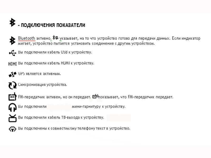 значки на экране телефона: